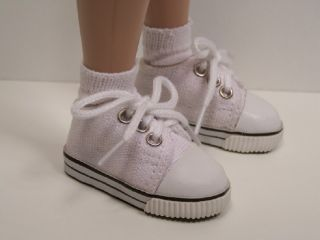 White Canvas Tennis Doll Shoes for Wren Raven Lark♥