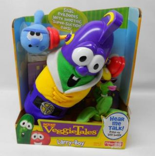 New VeggieTales Larry Boy Rumor Weed Fib Suction Ears Fisher Price