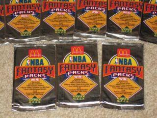 Lot of 10 Ultra RARE 1992 93 McDonalds Upper Deck SEALED NBA Foil