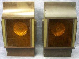 Vintage Wood Brass Outdoor Lighting Fixtures Flat Wall Mounted Box