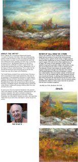 Adirondack Stone Wall Original Landscape Painting 30x40 Hall Groat