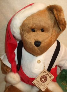 Boyds 2004 17 Plush Christma Santa Claus Bear Jolly OL St Nick New