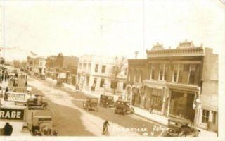 1920 RPPC Laramie Wyoming Street Scene Postcard