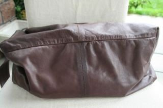 Latico NJ Brown Crossbody Handbag Extra Large Hobo Leather Bag