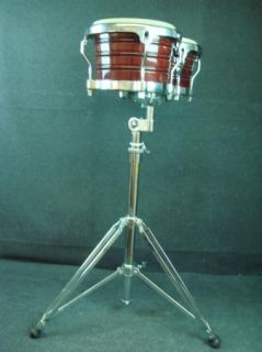 LP Latin Percussion Bongos Brown with Stand Percussion Drum Instrument