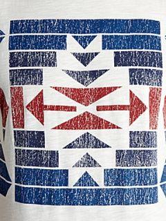 Jack & Jones Short sleeved tribal graphic T shirt White