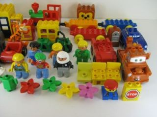 Big Lot of Lego Duplo Building Blocks People Animals 150 Pieces