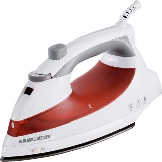Black & Decker Light N Easy Laundry Steam Iron ~ Red & White Non Stick