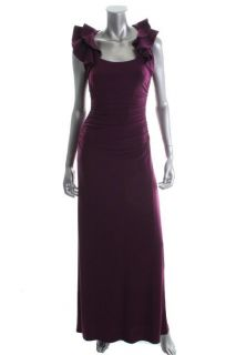 Laundry by Shelli Segal New Purple Ruffled Sleeve Long Gown Formal