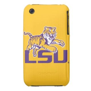 Tiger Over LSU   Purple iPhone 3 Cases