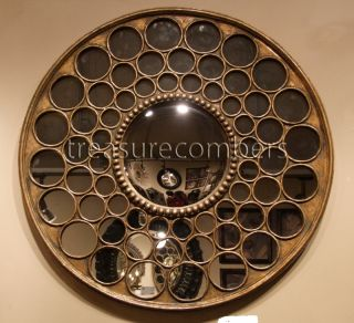 Large Round Circles Convex Wall Mirror Horchow