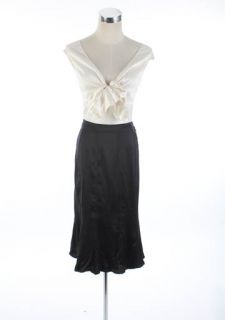 690 Yves Saint Laurent Black Soft Silk Skirt F40 New