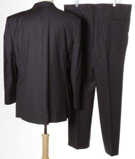 Guy Larouche Dark Navy Blue Pinstripe Classic Wool 3 Button Blazer