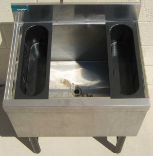 Model SLI 12 24 Stainless Steel Underbar Ice Chest Bar Sink NR