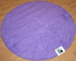 New Area Rug Picadilly 4 Round Purple Heart Lavender Kids Teen Dorm