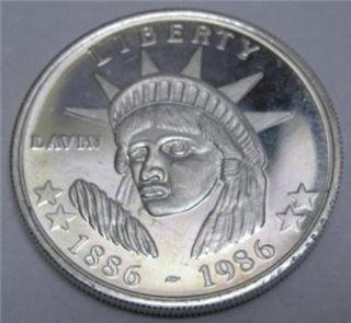 Lavin LIBERTY1886 1986 1oz 999 Fine Silver Round