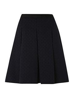 Dickins & Jones Ladies Jaquard Spot Skirt Navy