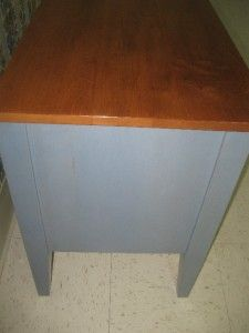 Ethan Allen Country Colors Denim Chairside Chest