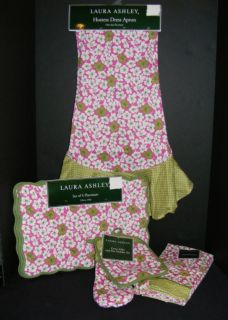 New Laura Ashley Beach Poppy Kitchen Collection Choice Pink Green