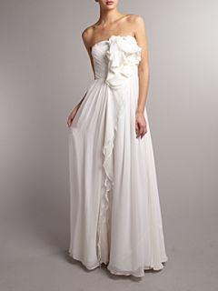 Anoushka G Dorena ruffle detail dress White