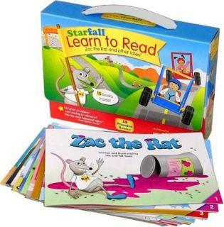 Starfall Learn to Read Phonics Book Set Zac The Rat An