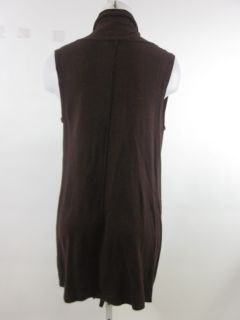 Laurie B Brown Duster Sleeveless Sweater Vest Sz M
