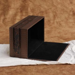 Rattan PU Leather Tissue Box Cover Paper Holder Home Decor 24 13 8 5