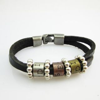 Hot Cool Men Clasp Hand Woven Leather Bracelet Chain Fashion Jewelry