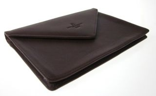 SEVEN SEAS CRUISE Brown Leather Jewelry Pouch. This jewelry pouch
