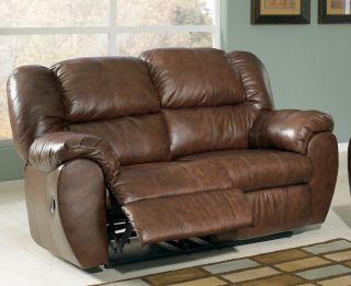 Family Sonoma Saddle Reclining Leather Sofa Loveseat