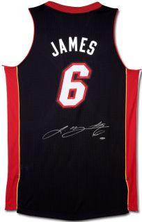 Lebron James Signed Heat Revolution 30 Black Jersey UDA