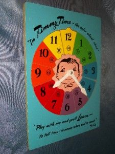 Wooden Puzzle Sifo Timmy Time Color Wheel Clock Learning Toy