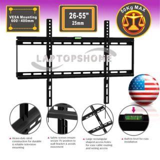 Ultra Slim 0 98 Flat LCD LED TV Wall Mount Bracket 26 27 30 32 42 45