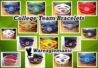 College University Team Sports Football Basketball Baseball Bracelet