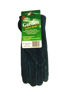 Midwest Womens Leather Garden Gloves Blue Womens Medium Style 480