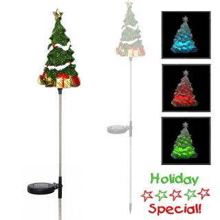 New LED Christmas Tree Solar Yardlight Garden Stake Color Changing