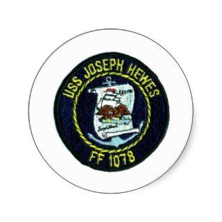 USS JOSEPH HEWES (FF 1078) STICKER