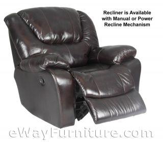 Leather Dual Power Recliner Sofa Blackberry Parker Living Hercules