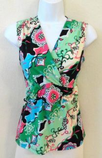 Susan Lawrence Large Crossover Ruched Empire Waist Bright Color