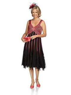 Jacques Vert Flamingo ribbon dress Black