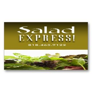 Restaurant Catering Eateries Cuisine Salad Bar Business Card Templates