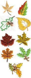 Mini Autumn Leaves Machine Embroidery Designs