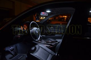 White LED Interior Lights Kit 07 11 BMW 3 Series E90 Sedan