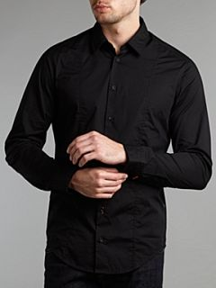 Hugo Boss `Colombiae` long sleeved shirt Black