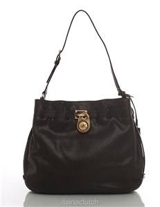 Auth Michael Kors Black Hamilton Shoulder Bag
