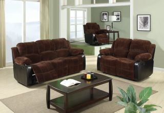 Reclining Leather Sofa Loveseat Chocolate Sofa Couch Living Room Sofa