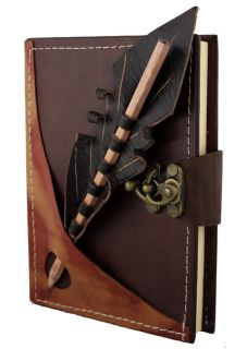 Section on A Brown Leather Bound Journal Notebook Diary SO187