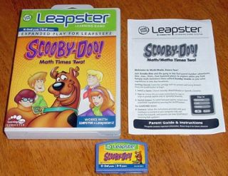 Scooby Doo Math Times Two for the Leapfrog L Max, Leapster,