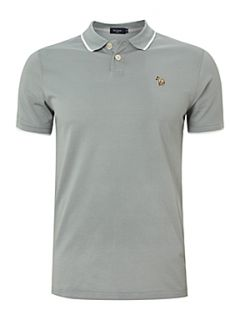 Paul Smith Jeans Tipped mercerised polo shirt Jade