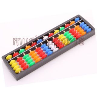 Abacus Soroban 13 Rods Beads Colorful School Learning Aid Tool for